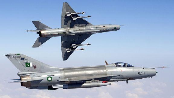 یک فروند جنگنده نیروی هوایی پاکستان در پنجاب سقوط کرد