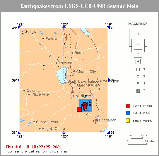 زمین لرزه 6.2 ریشتری در دو ایالت کالیفرنیا و نوادای امریکا