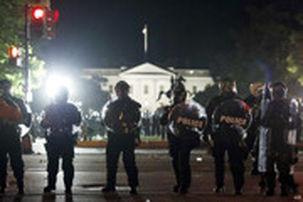 سرویس مخفی آمریکا خیابان های اطراف کاخ سفید را مسدود کرد