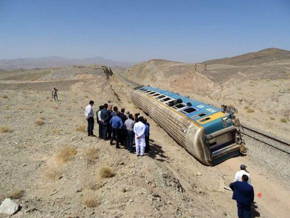 خارج شدن قطار زاهدان به تهران از ریل / حادثه تلفات انسانی نداشت