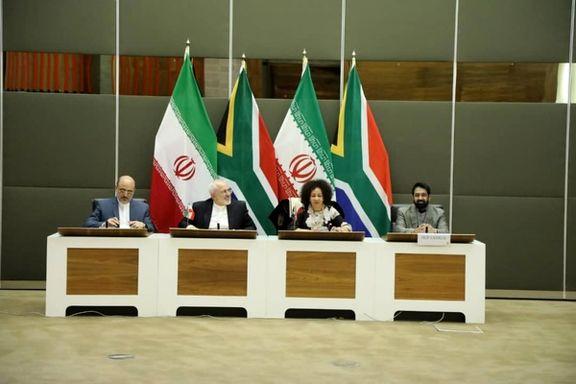 دور دوم مذاکرات ظریف با همتایش در آفریقای جنوبی برگزار شد+ عکس