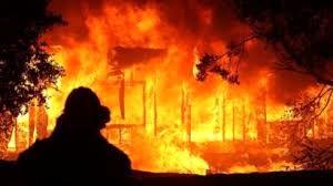 آتشسوزی گسترده در یک مجتمع بزرگ کشاورزی در «نیوجرسی» آمریکا