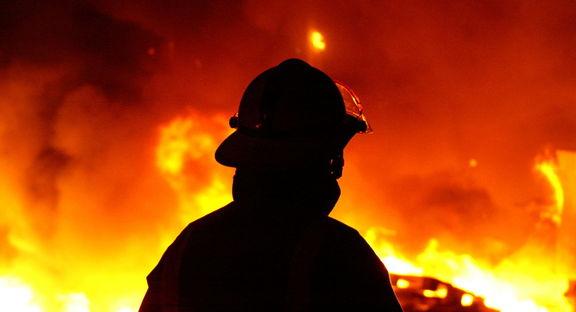 وقوع حریق در نیروگاه برق بعثت تهران