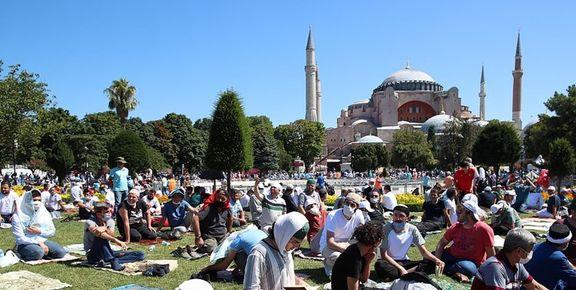 برگزاری اولین نماز جمعه در مسجد ایاصوفیه بعد از یک قرن