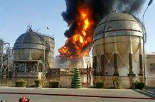 جلوگیری از سرایت آتش به سایر مخازن پالایشگاه تهران توسط گروه امداد و آتشنشانی