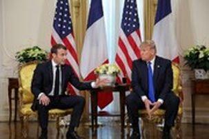 گفتگوی ماکرون و دونالد ترامپ درباره تحریم تسلیحاتی ایران و کمک به لبنان