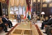 مسعود بارزانی دیدار با وزیر خارجه ایران را «سازنده» خواند