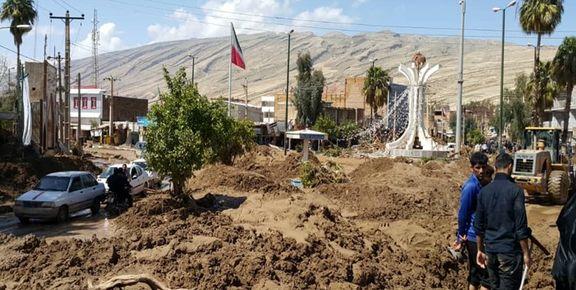 زیرساخت شهری پلدختر نابود شد+ تصاویر