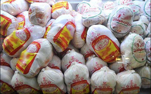۴ و نیم تن مرغ منجمد تنظیم بازار از یک  مغازه کشف شد