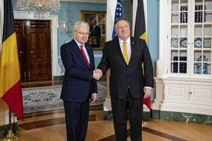 وزرای خارجه آمریکا و بلژیک درباره مسائل ایران گفتگو می کنند