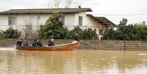 توزیع آب و غدا در میان سیل زدگان مازندرانی